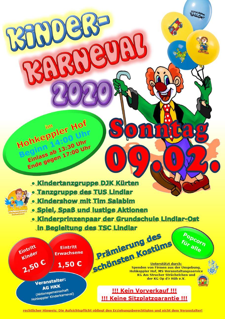 Kinderkarneval der AG HKK in Hohkeppel @ Festsaal Hohkeppler Hof